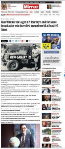 Alan Whicker  Daily Mirror