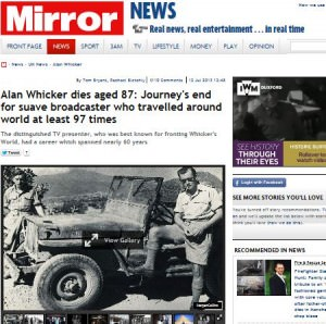 Alan Whicker  Mirror