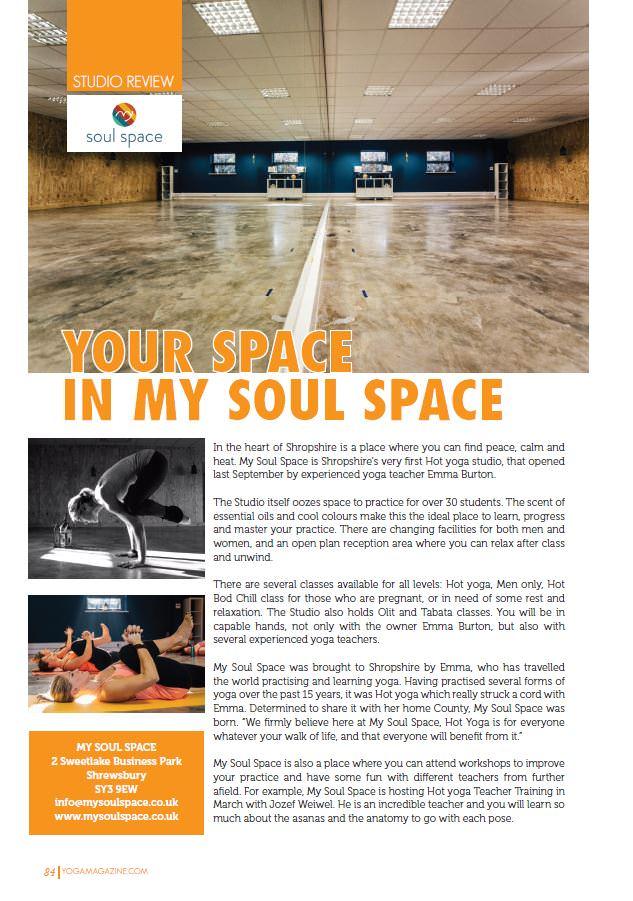 My Soul Space - Yoga Magazine