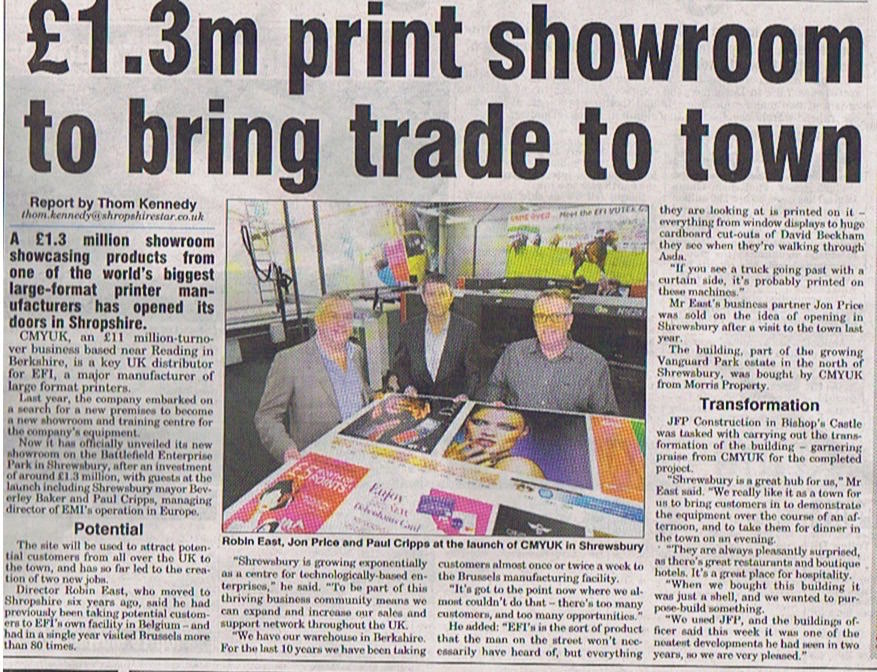 CMYUK SHROPSHIRE STAR BUSINESS FRONT COVER