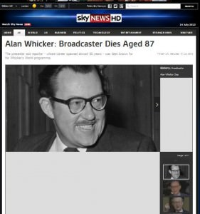 Alan Whicker  Sky News