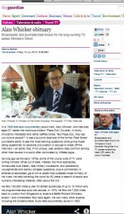 Alan Whicker  The Guardian