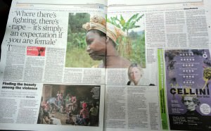 Studio 9 Evening Standard double page feature on Seeds of Hope
