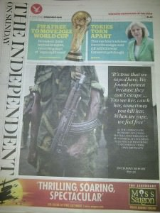 Studio 9 Independent on Sunday cover on Seeds of Hope
